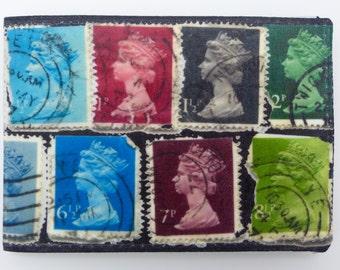 Oyster card holder, bus pass holder, travel card holder, wallet. Vintage stamp print . Card wallet, Oyster card wallet, credit card holder
