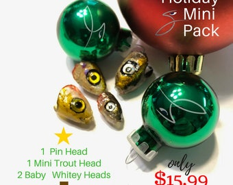 Holiday Mini Pack --DIY Variety Pack of Heads for Fly Fishing Flies or Lures by DropJaw
