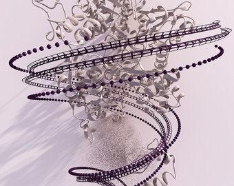 canvas print-Mutating enzyme