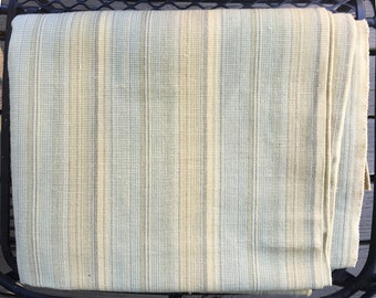 SALE 2.5 Yds  Sand Pillow Upholstery Fabric Blue Vintage