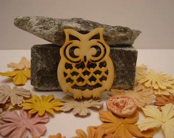 OWL 02070 embellishment wooden creations
