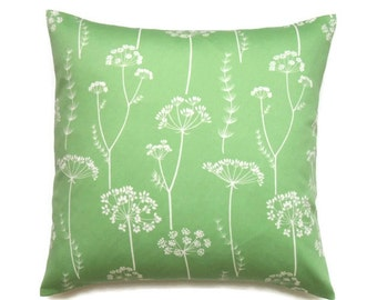 Green Floral Pillow Covers, 18x18 Pillow Cover, Decorative Pillows, Throw Pillow covers, Modern Cushion Covers, Waverly Simplicity