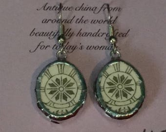 Broken China Earrings -- 20,077