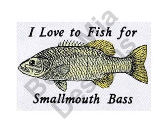 Fishing - Machine Embroidery Design, Smallmouth Bass