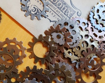 10 Gears stampings steampunk supplies