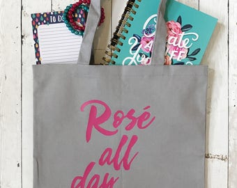 Rose All Day - Canvas Tote Bag