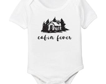 Log Cabin Fever Winter Organic Cotton Baby Bodysuit