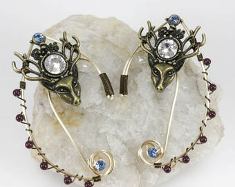 Elven Ear Cuffs - Elf Ears - Elven Ears - Fairy Ears - Deer Ears - Elf Costume - Fairy Costume - Ear Cuffs - Elf Ear - Cuffs Elven Costume