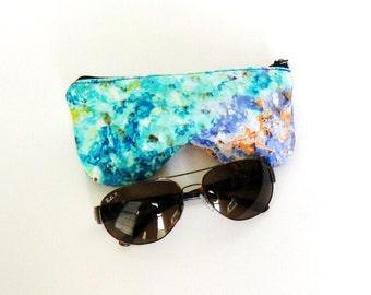 Eyeglass Case, Sun Glasses Case,  Zippered Eye Glass Case - Monay