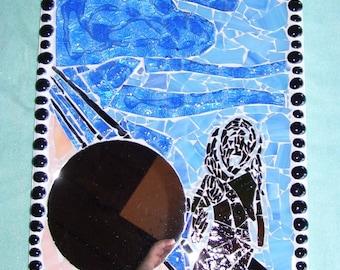 Mirror wall art The Scream mosaic