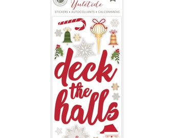 American Crafts~Pink Paislee~Yuletide Foiled Puffy Stickers