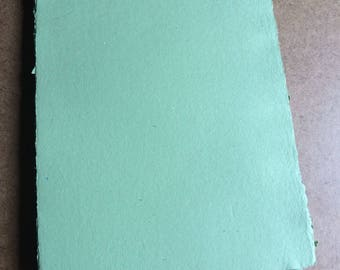 Green paper, handmade paper, eco friendly paper, recycled paper, textured paper, homemade paper, decorative paper, letterpress paper