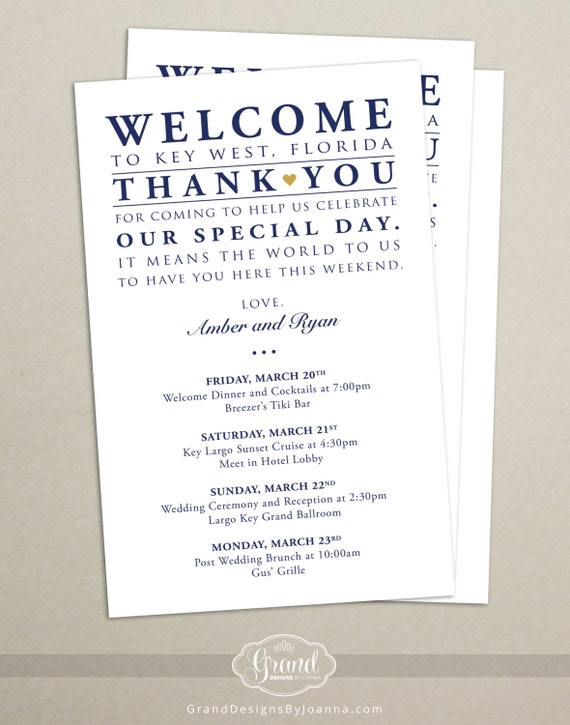 Wedding welcome letter for hotel guests sle 28 images wedding itinerary cards for wedding hotel welcome bag printed spiritdancerdesigns Image collections