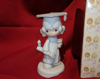 Enesco Precious Moments 1980 Graduate Girl The Lord Bless You and Keep You E-4721