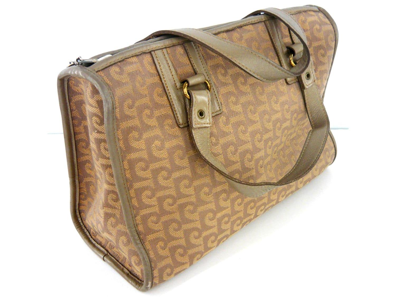lana basta PIERRE beige CARDIN forma de bolso Vintage tela de B0F6a8qw