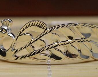 29 Gram Purity 999 Fine Silver Solid Phoenix Bracelet Bangle Size Adjust Signed