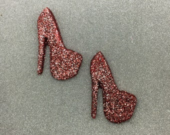 Pair of Glitter High Heel Shoes Wall Hangings ~ Ready to Ship