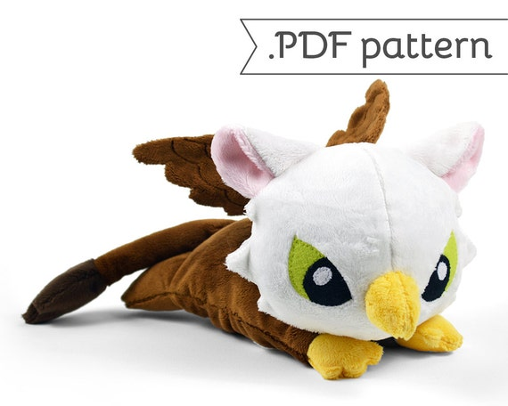 Griffin Plush Eagle Lion Bird Monster .pdf Sewing Pattern