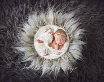 Newborn Digital Background - Cozy Natural Nest