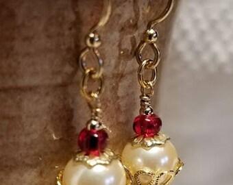 Handmade Earrings - CUPCAKES - 14K Gold-Filled Earwires
