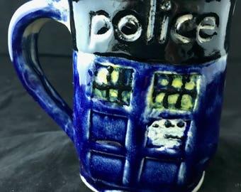 Tardis inspired coffee mug