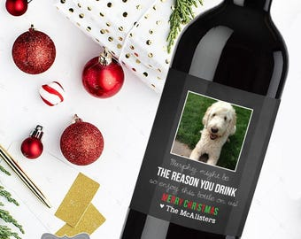 dog sitter gift dog groomer gift vet gift gift for groomer gift for pet lover pet doctor gift dog lover gift christmas wine label