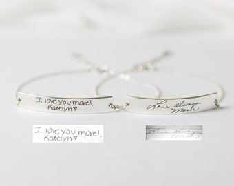 Signature Bracelet in Sterling Silver/Handwriting bracelet/Handwritten Bracelet/ Signature Jewelry/Bridesmaid Gift/ MOTHER'S GIFT BM20
