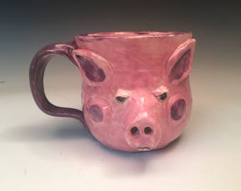 Pig Face Mug: Smiling Pink Perfection