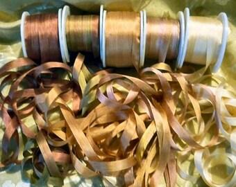Old Rose 4mm 25 yard Silk Ribbon Assortment pack