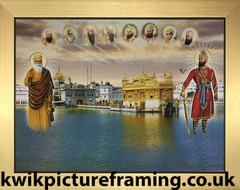 Sri Harmandir Sahib Golden Temple Amritsar Picture Frame - 12″ X 9″ Inches