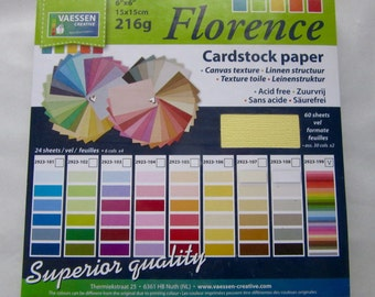 Florence 216 g paper, 15 x 15cm, 60 leaves in 30 colors