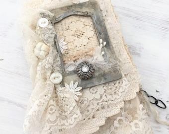 Handgemaakte linnen en Lace Journal