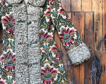 1960's Women's X-Small Tapestry Coat by Ruby Martin