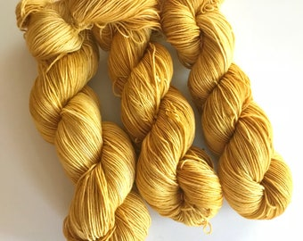 Citrine Hand Dyed Sock Weight Yarn for Knitting and Crochet