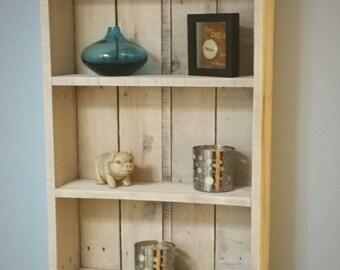 Rustic Reclaimed Wood Shelf / Display / Whitewash /