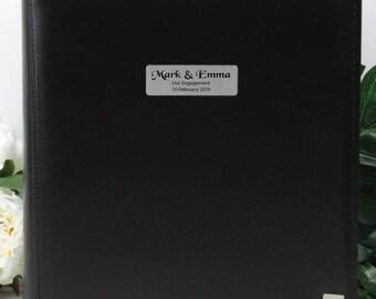 Personalised Drymount Engagement Album - Black