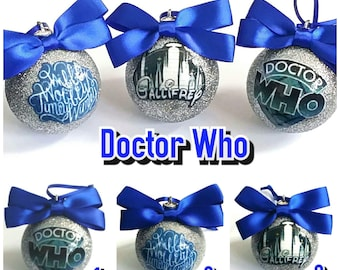 Dr Who Christmas Tree Baubles/Decorations - set of 3
