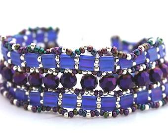 Tila Ruffle Bracelet in Purples