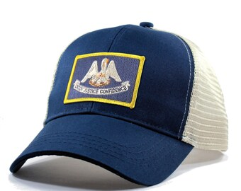 Homeland Tees Louisiana Flag Hat - Trucker