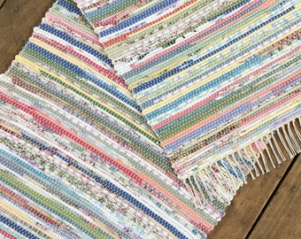 2x4 Rag Rug / Project Remnants / Pastels