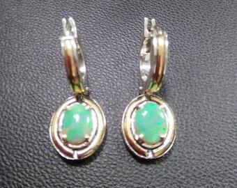 Opal Earrings AUSTRALIAN OPAL natural solid 925 14K