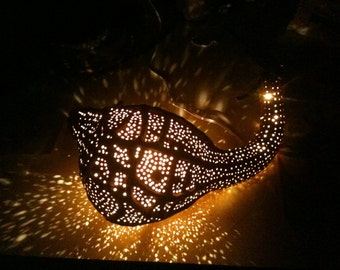 Handcrafted gourd-lamp (Fish-Dragon)