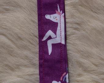 Unicorn fabric key fob