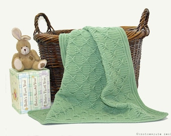 CROCHET PATTERN - Wrapped in Bows Baby Blanket - Instant Download (PDF)