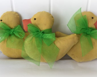 Duck Bowl Fillers | Spring Ducks | Easter Gift | Primitive Duck Ornies | Spring decorations | Easter Decorations | Easter decorations