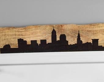 Rustic Cleveland Skyline