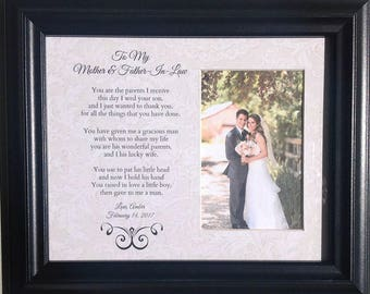 Mother and Father In Law Wedding Parents Bride Groom Personalized Custom Gift
