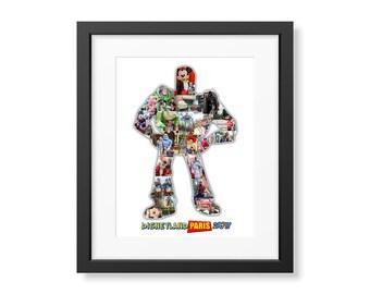 Disney Buzz Lightyear Inspired Custom Photo Collage Digital Image