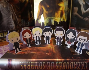Magnetic bookmarks - Shadowhunters, The Mortal Instruments, Cassandra Clare