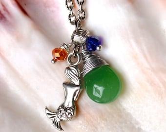Mermaid Jewelry from Hawaii - Ocean Inspired Necklace - Mermaid Necklace made in Hawaii - Hawaii Jewelry by Mermaid Tears Nautical Necklace